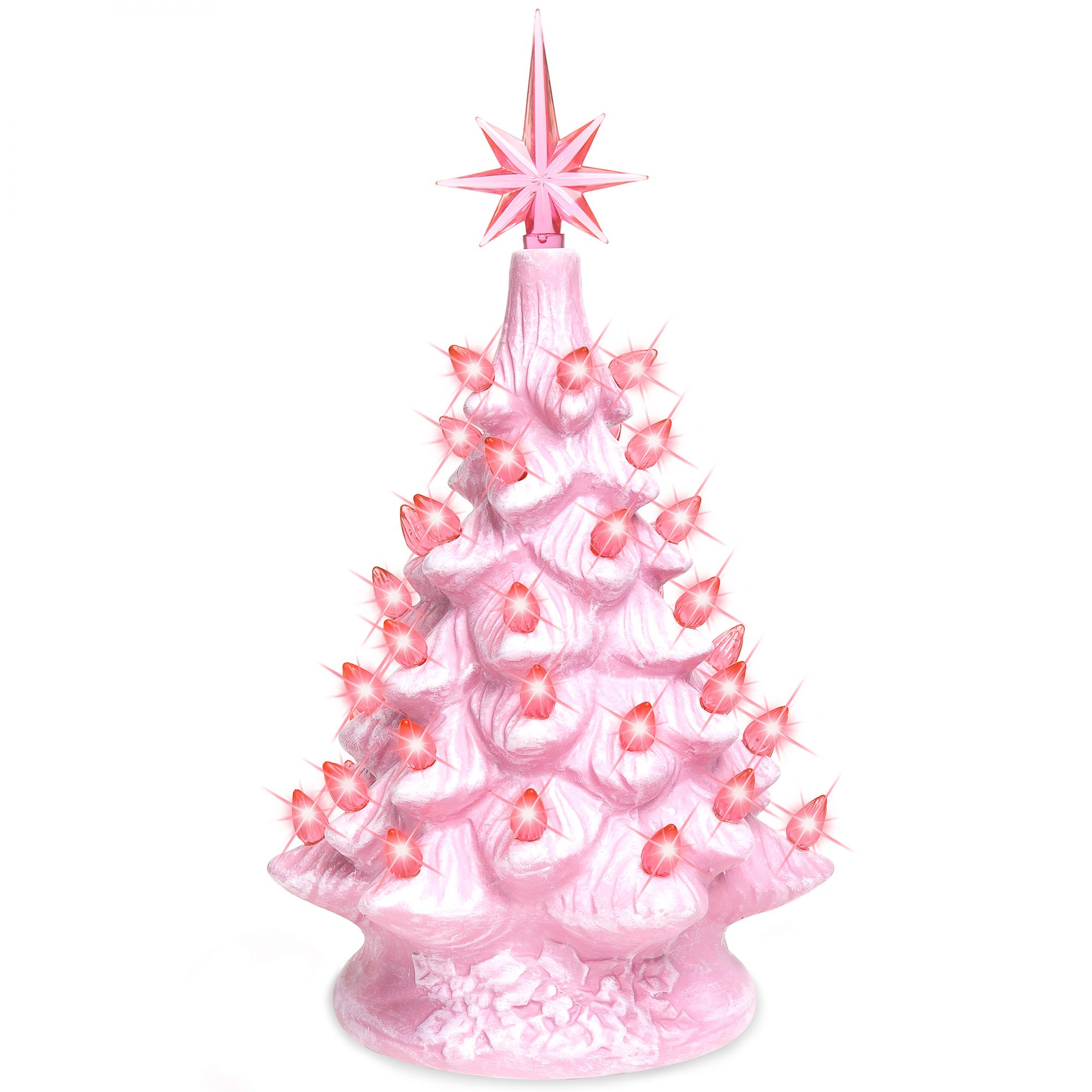 pink ceramic tree on a white background
