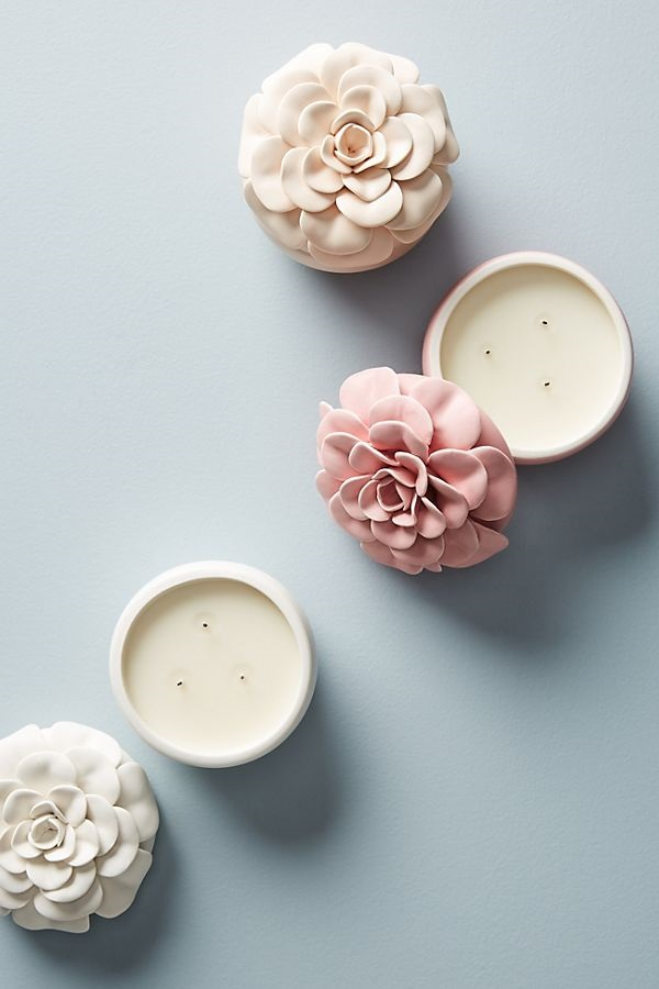 With three fragrances to choose from, these decorative candles are sure to delight. Each candle has a 15 hour burn time, is made from a soy wax blend, and is poured in the United States to ensure the best quality. Bonus: They look as good when lit as unlit!Buy It: Ceramic Flower Candle, $26, Anthropologie