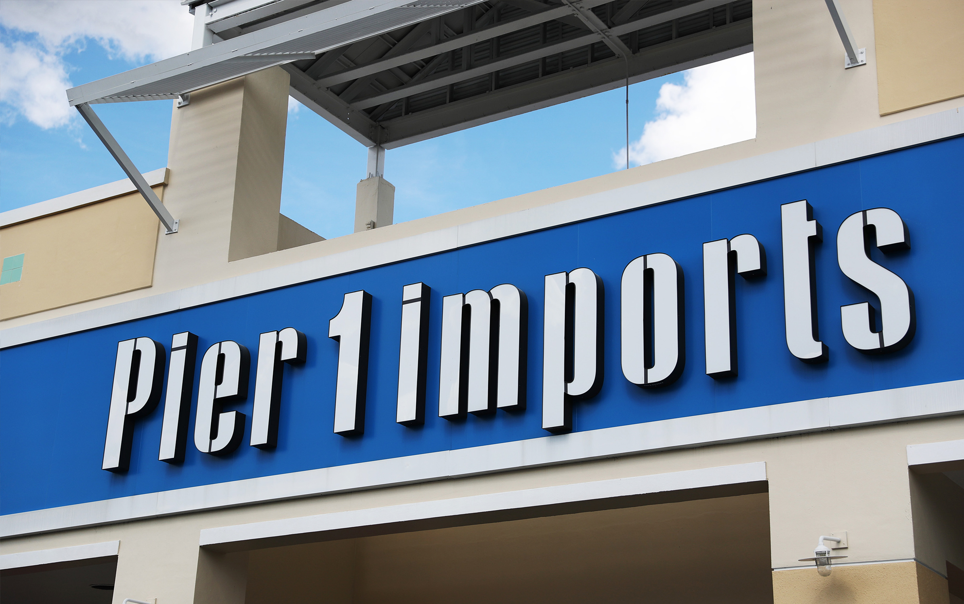 Pier 1 Imports store front sign