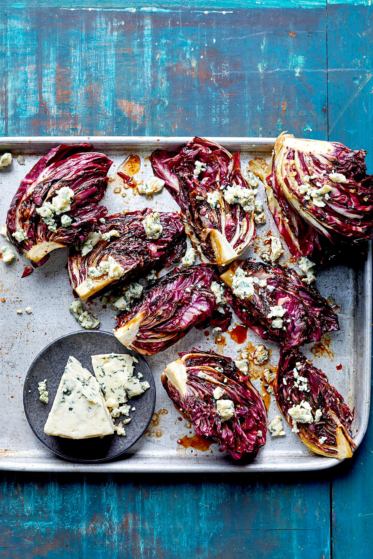 Grilled Radicchio with Cheese