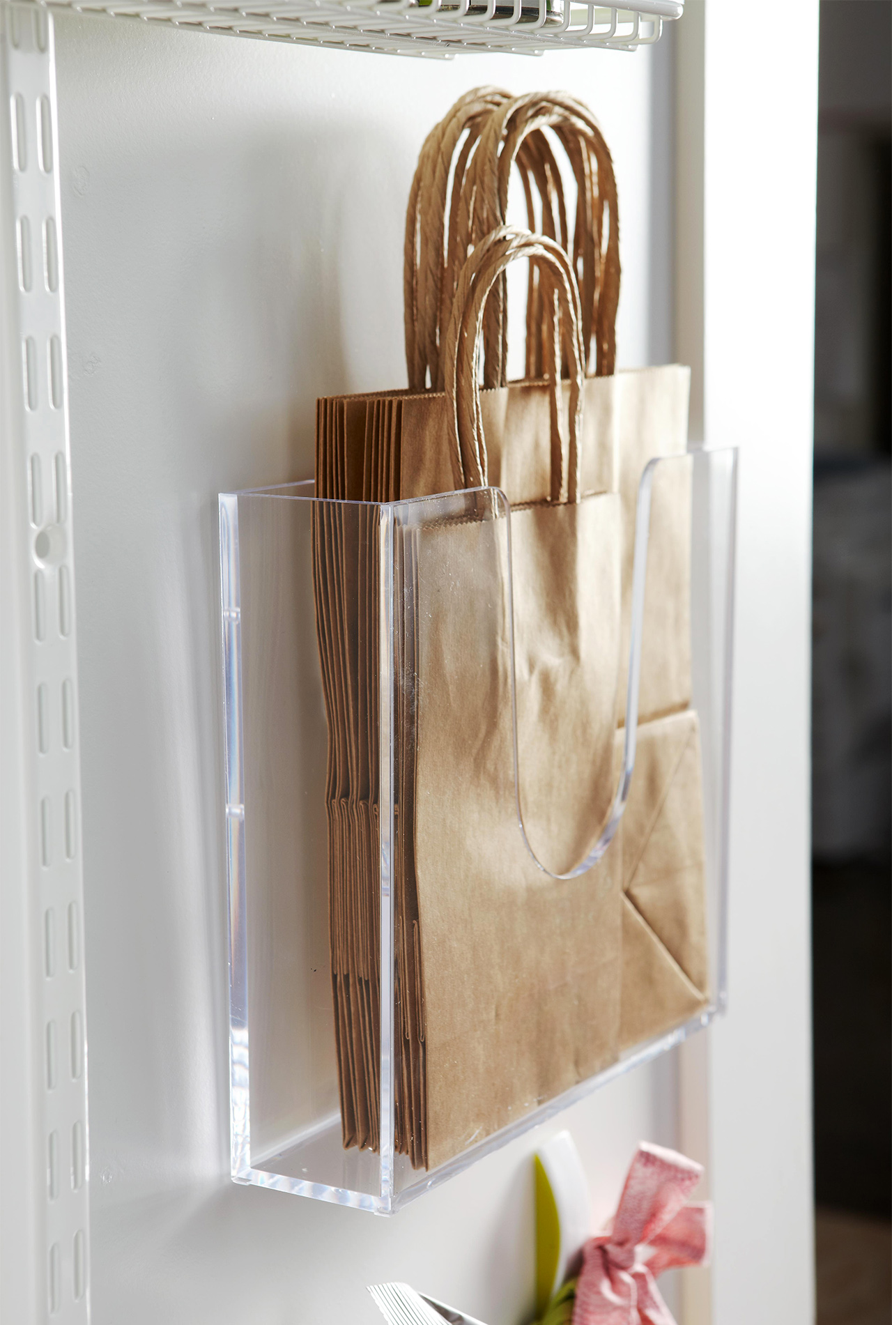 Back of door storage paper bags
