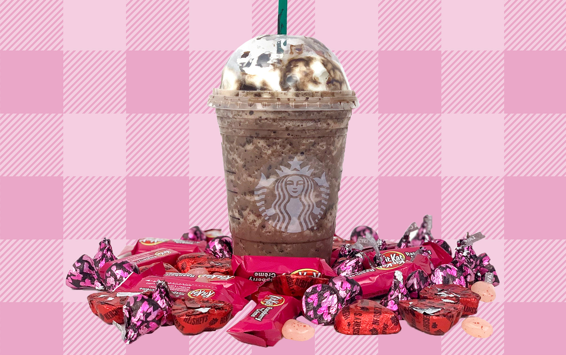 chococolate covered strawberry frappuccino