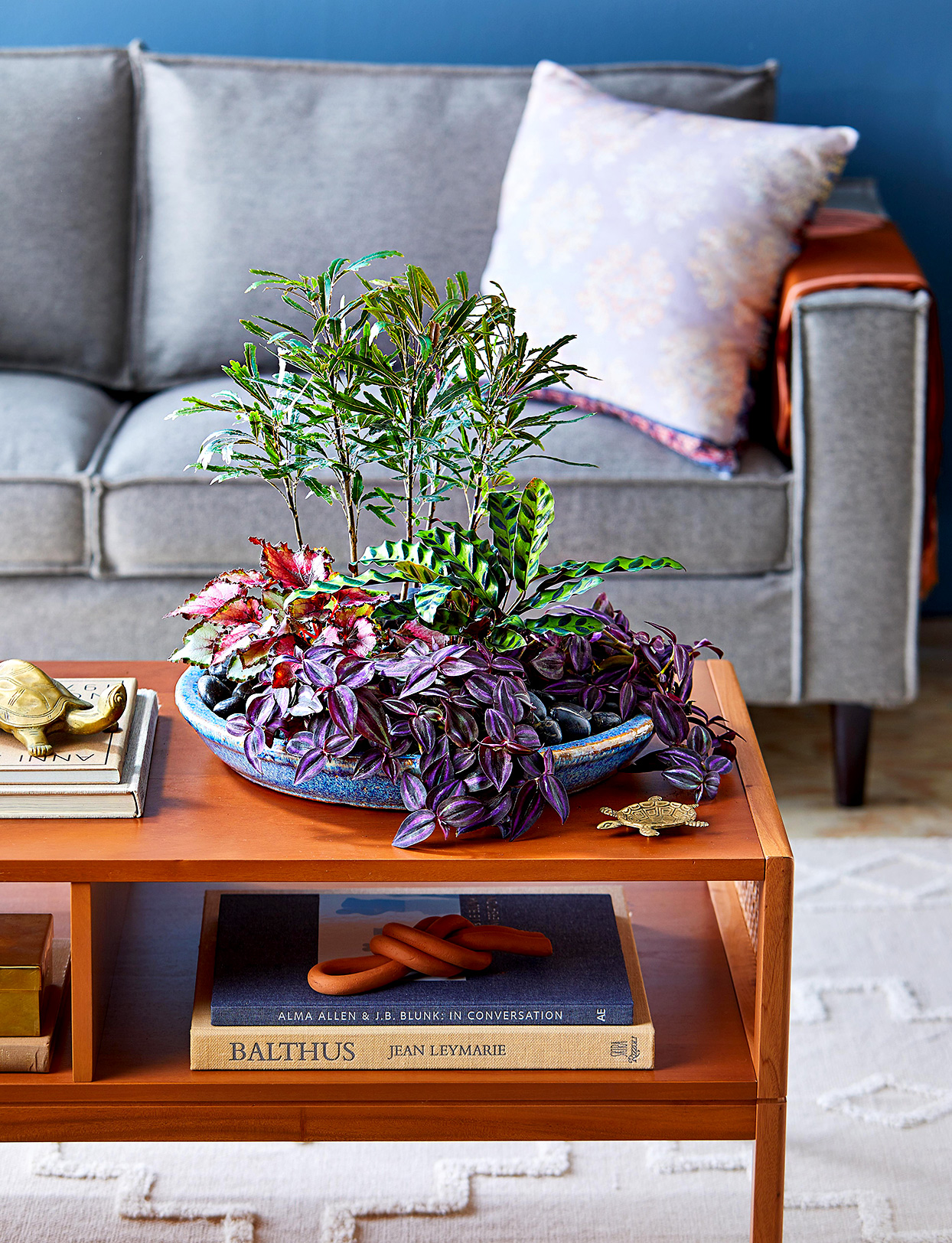 Indoor forest dish garden