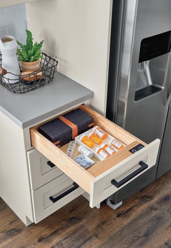 Biometric Secured Drawer from Diamond Cabinets