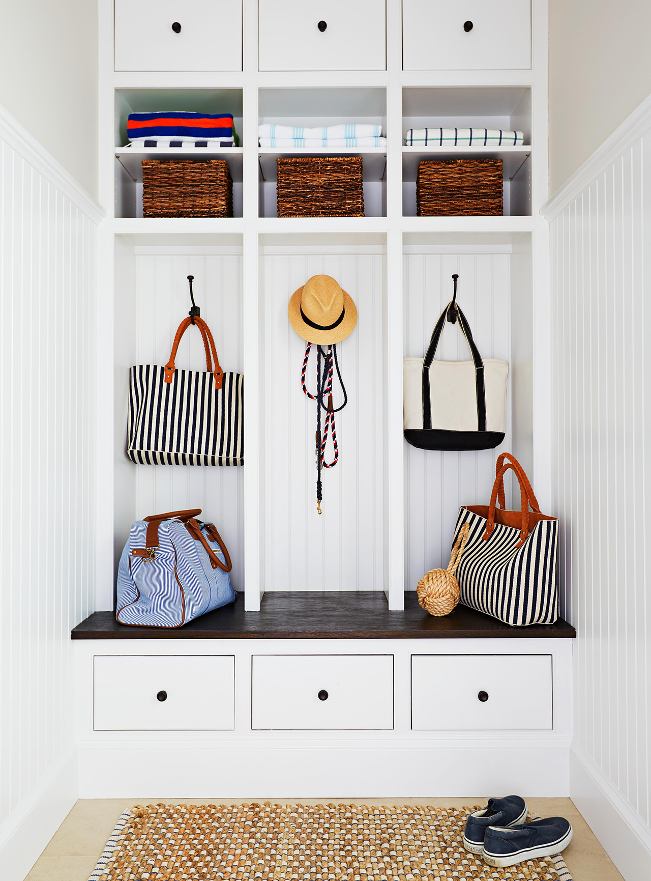 mudroom cubbies storage drawers hanging bags