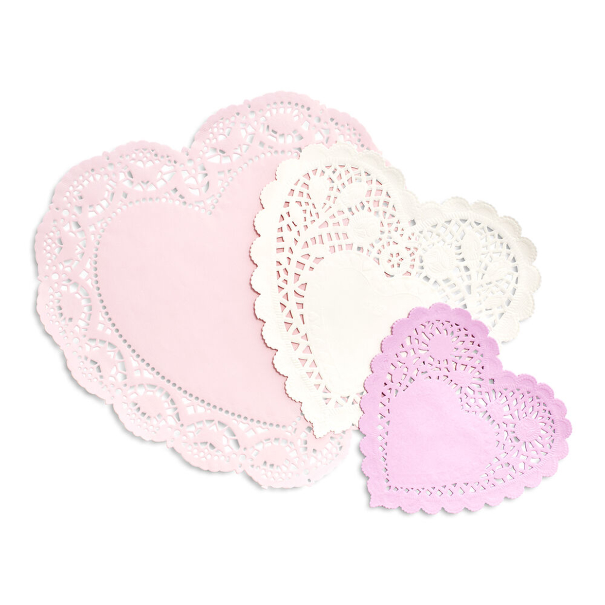 Paper Heart Doilies, Set of 30