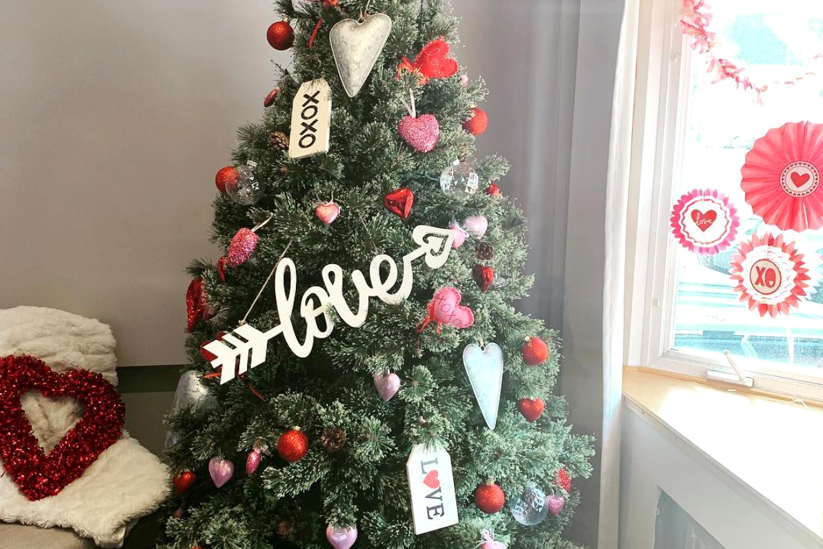 Image result for valentine's christmas tree
