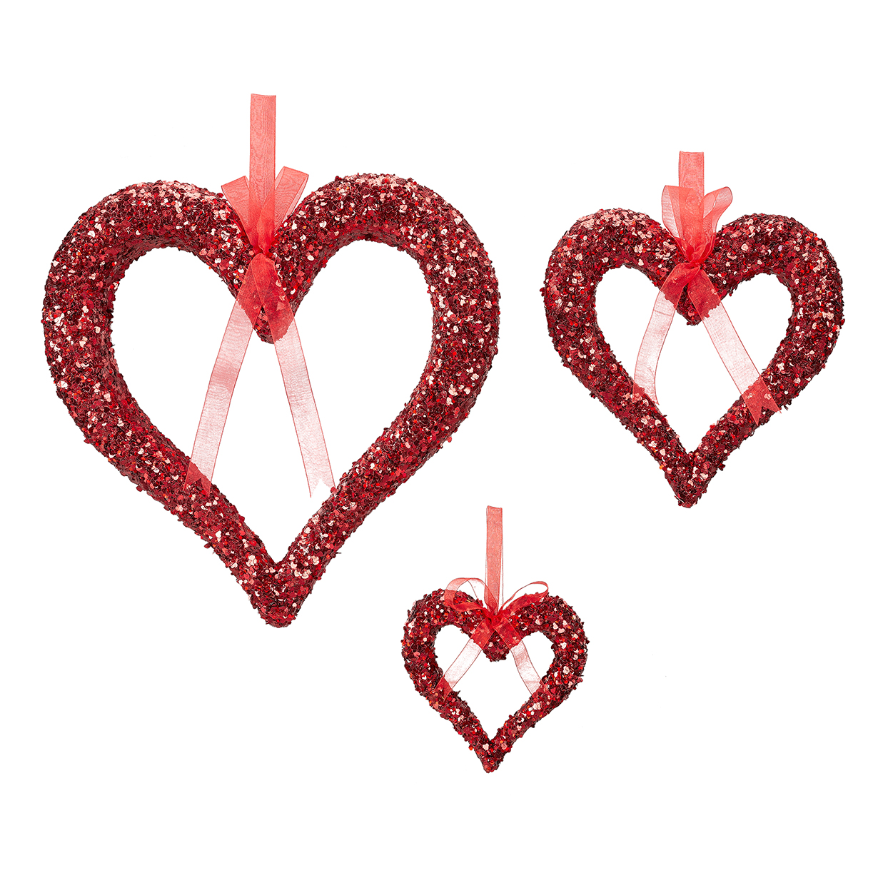 Way to Celebrate Valentine's Day Foam Sequin Hearts