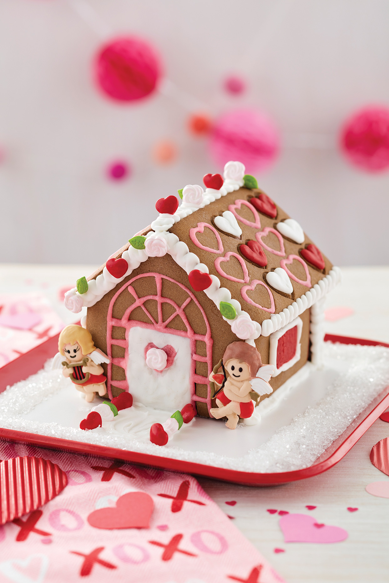 Fall in Love With This Cupid's Cottage Cookie House for Valentine's Day
