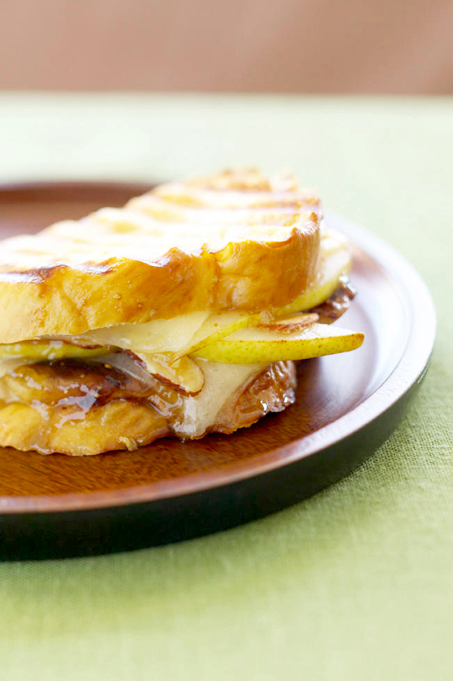 Grilled Cheese and Fruit Sandwich
