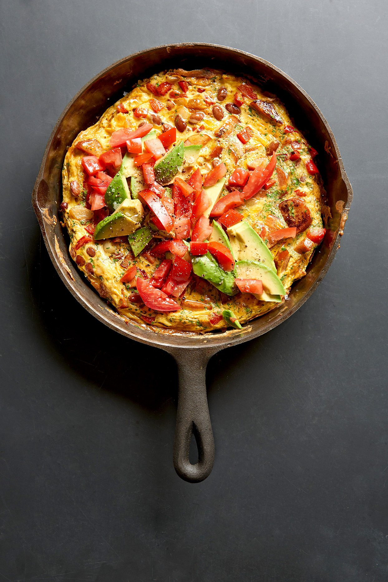 Southwestern Bean and Andouille Frittata