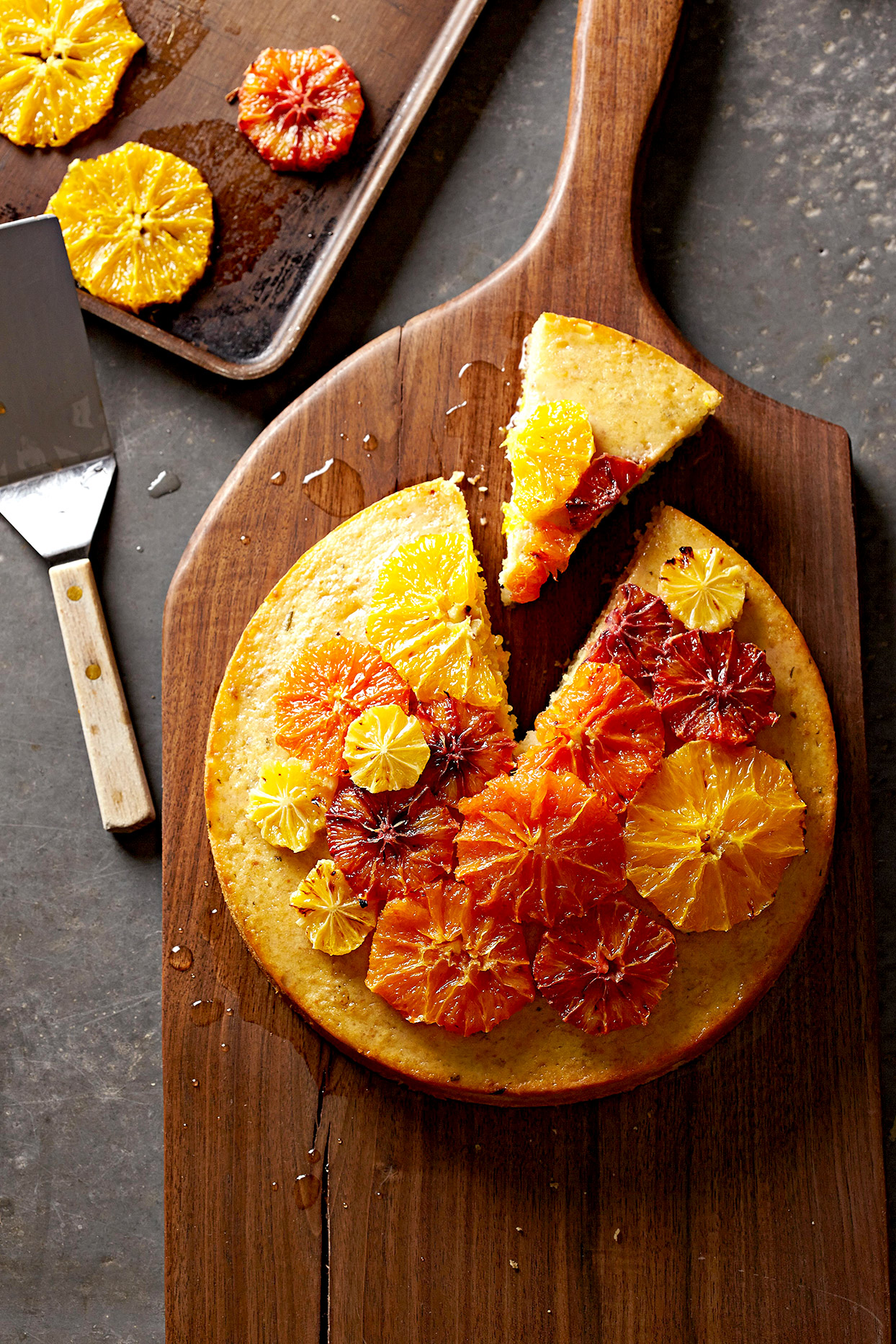 Olive Oil Cake with Roasted Citrus