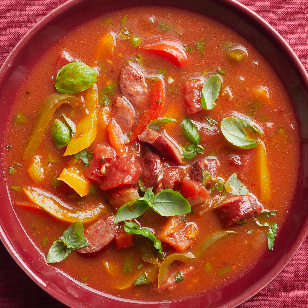 Sausage and Peppers Soup