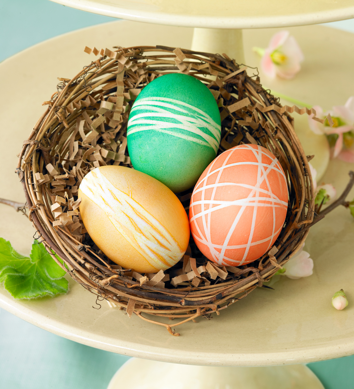string-wrapped easter eggs