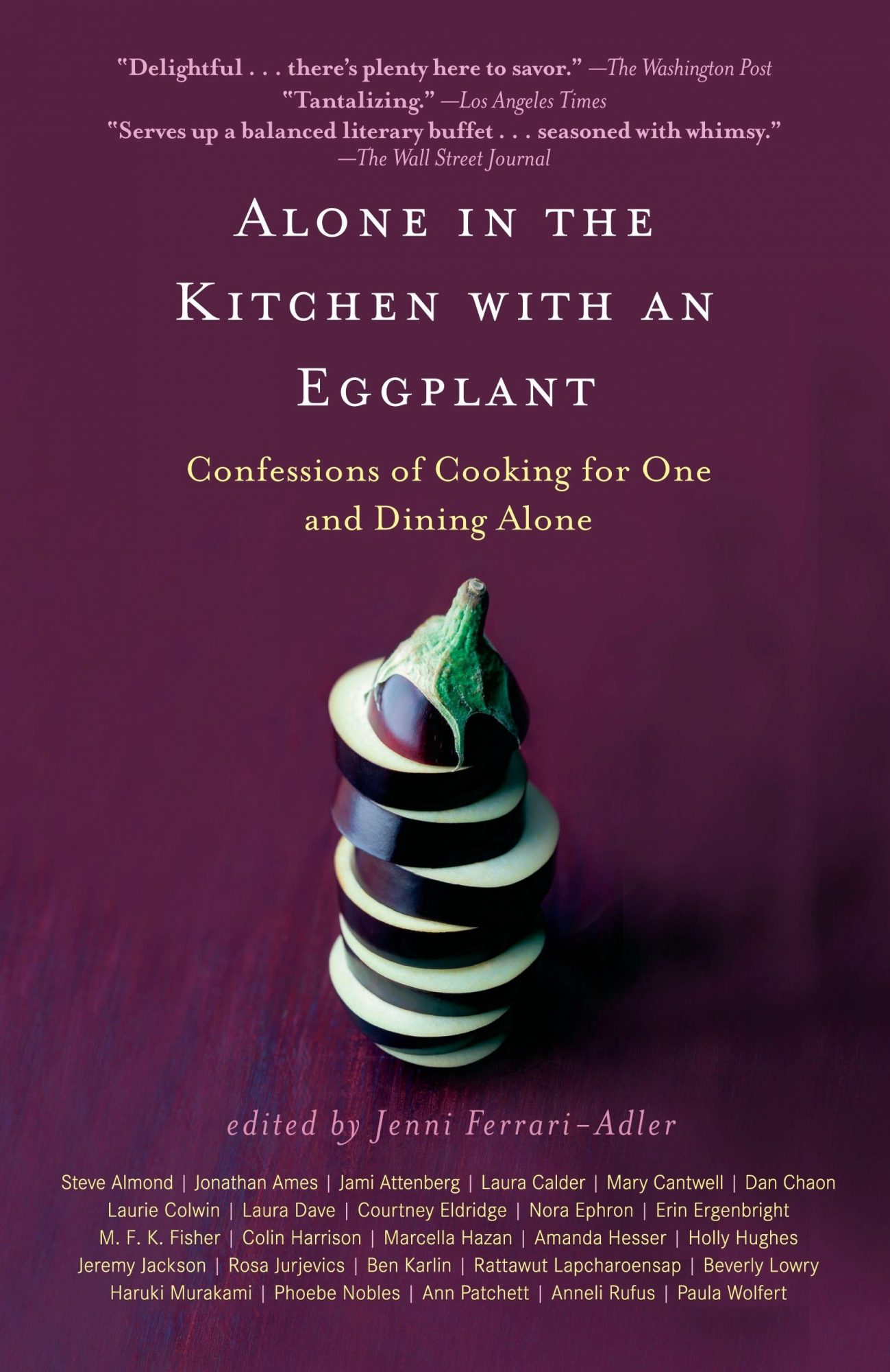 alone in the kitchen with an eggplant book
