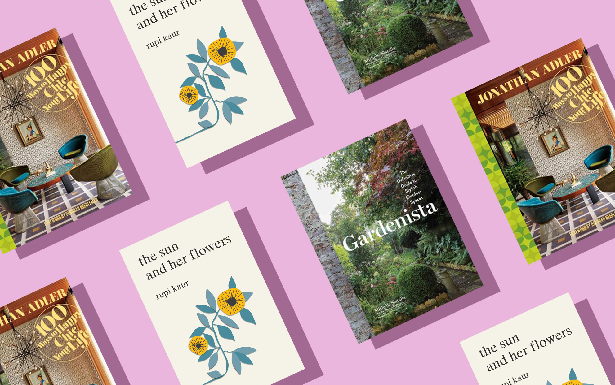 book covers with flowers and gardens