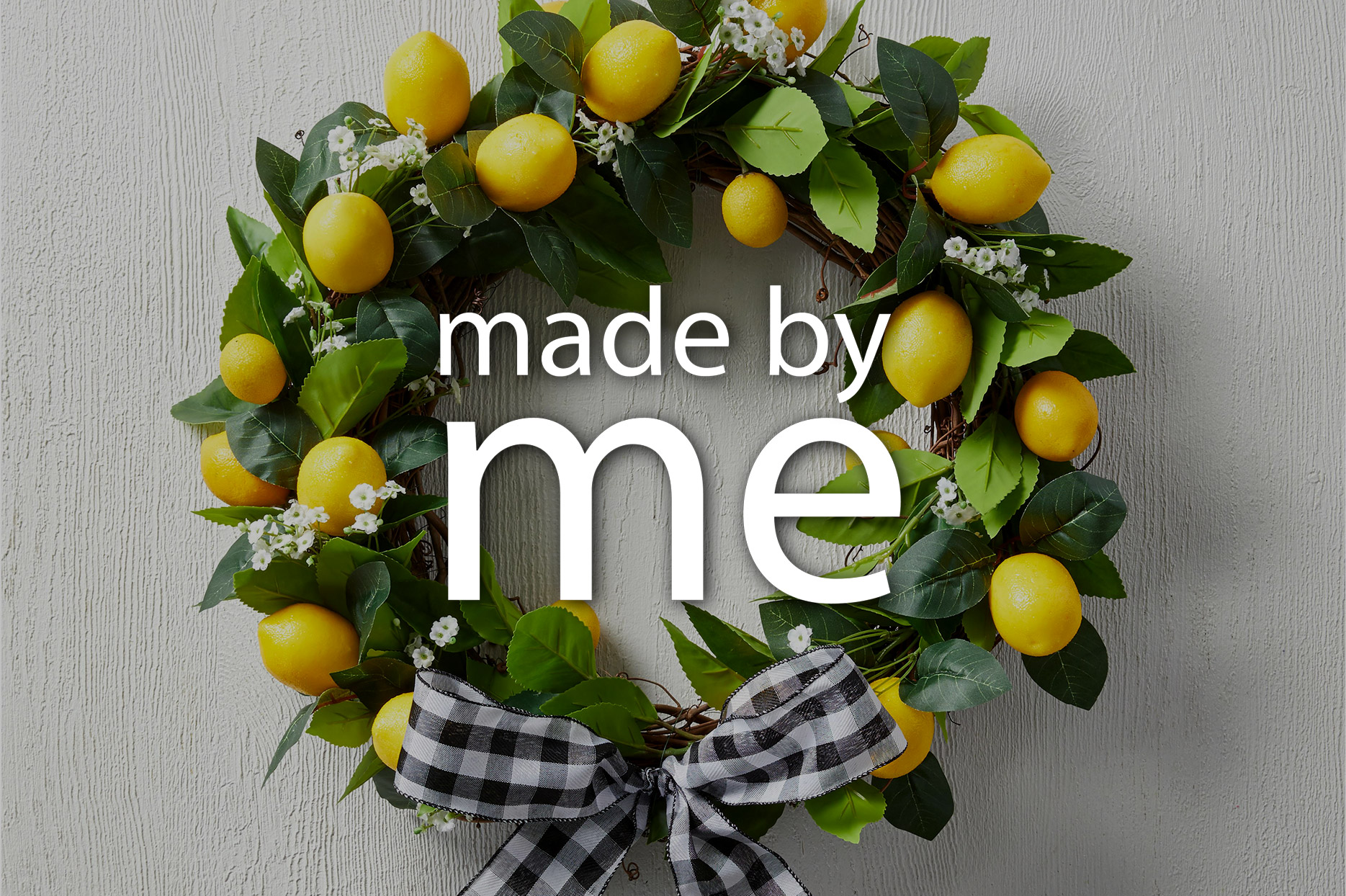 made by me lemon wreath video
