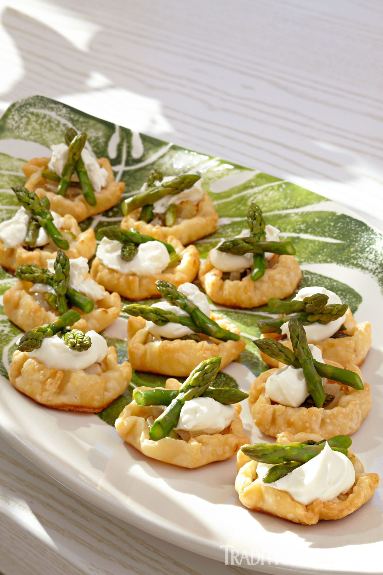 asparagus and goat cheese mousse galettes