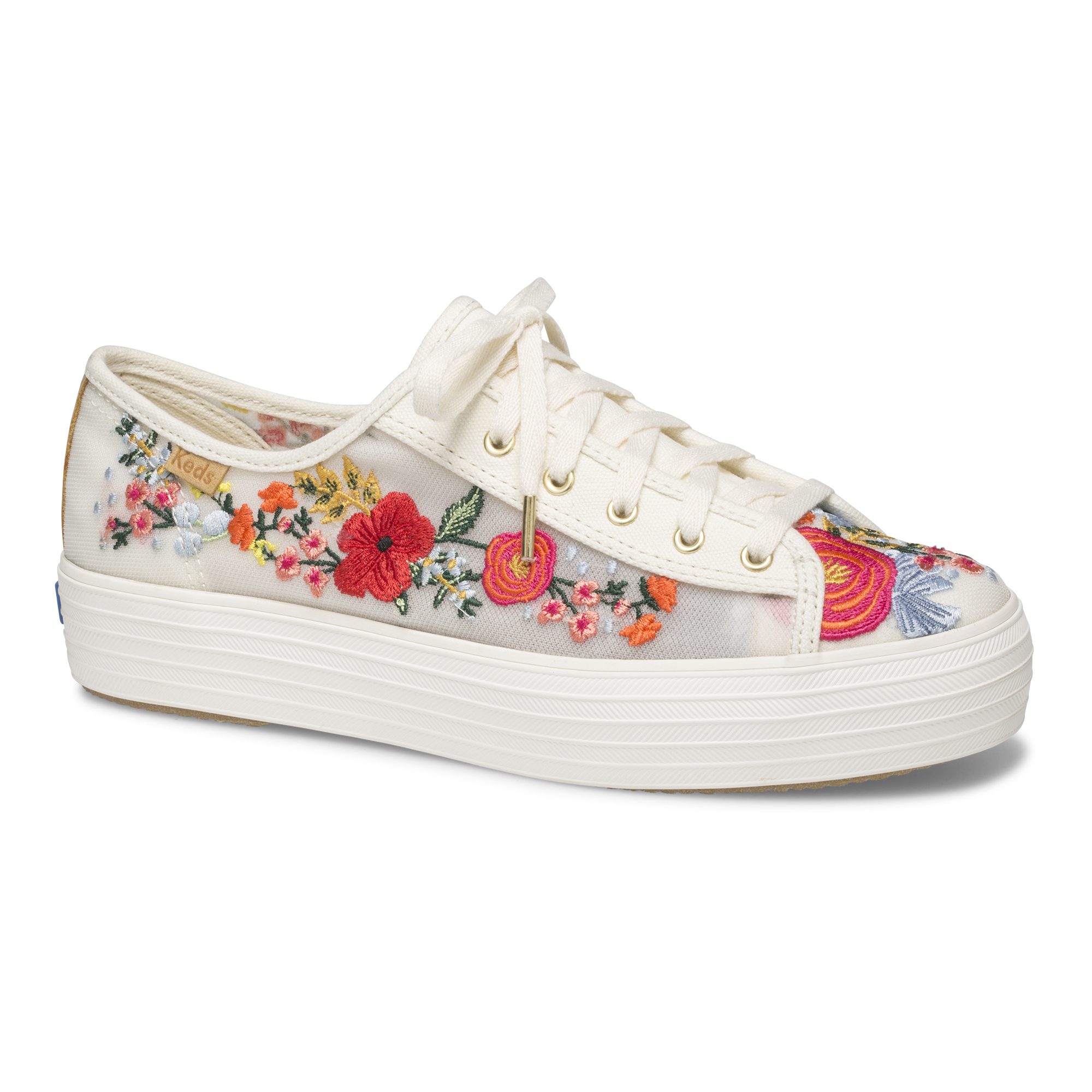 embroidered floral shoe