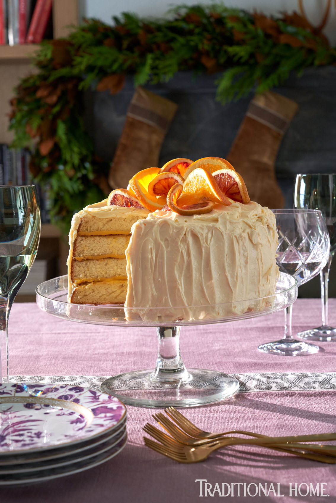 White Chocolate Layer Cake with Orange Curd