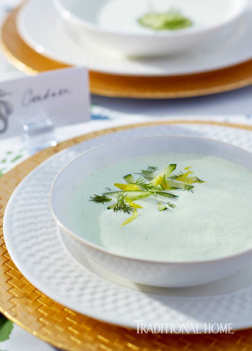 Chilled Cucumber-Cashew Soup