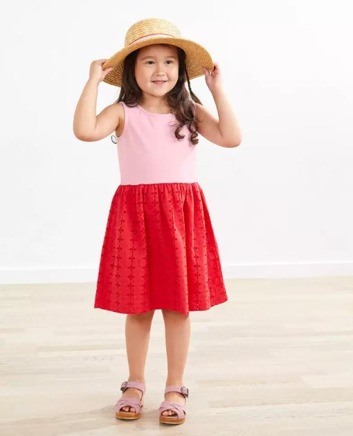 pink and red easter dress for girls