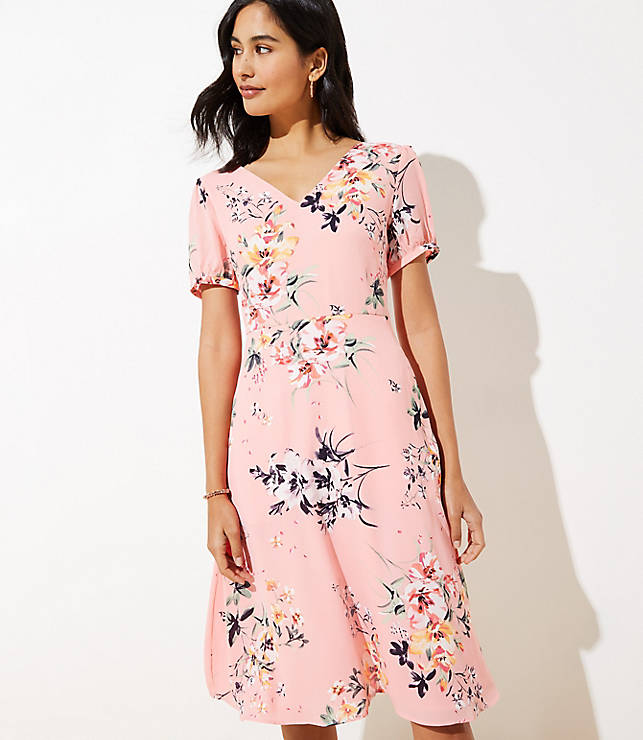 pink floral Easter dress for women