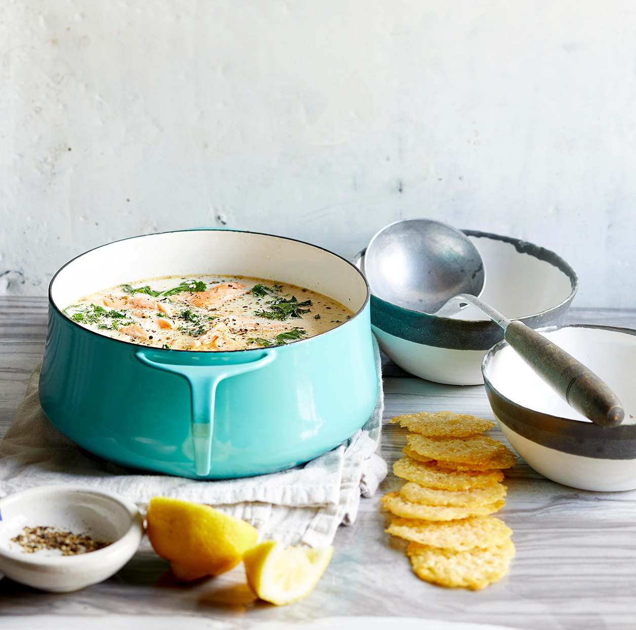 Creamy Keto Roasted Salmon Soup