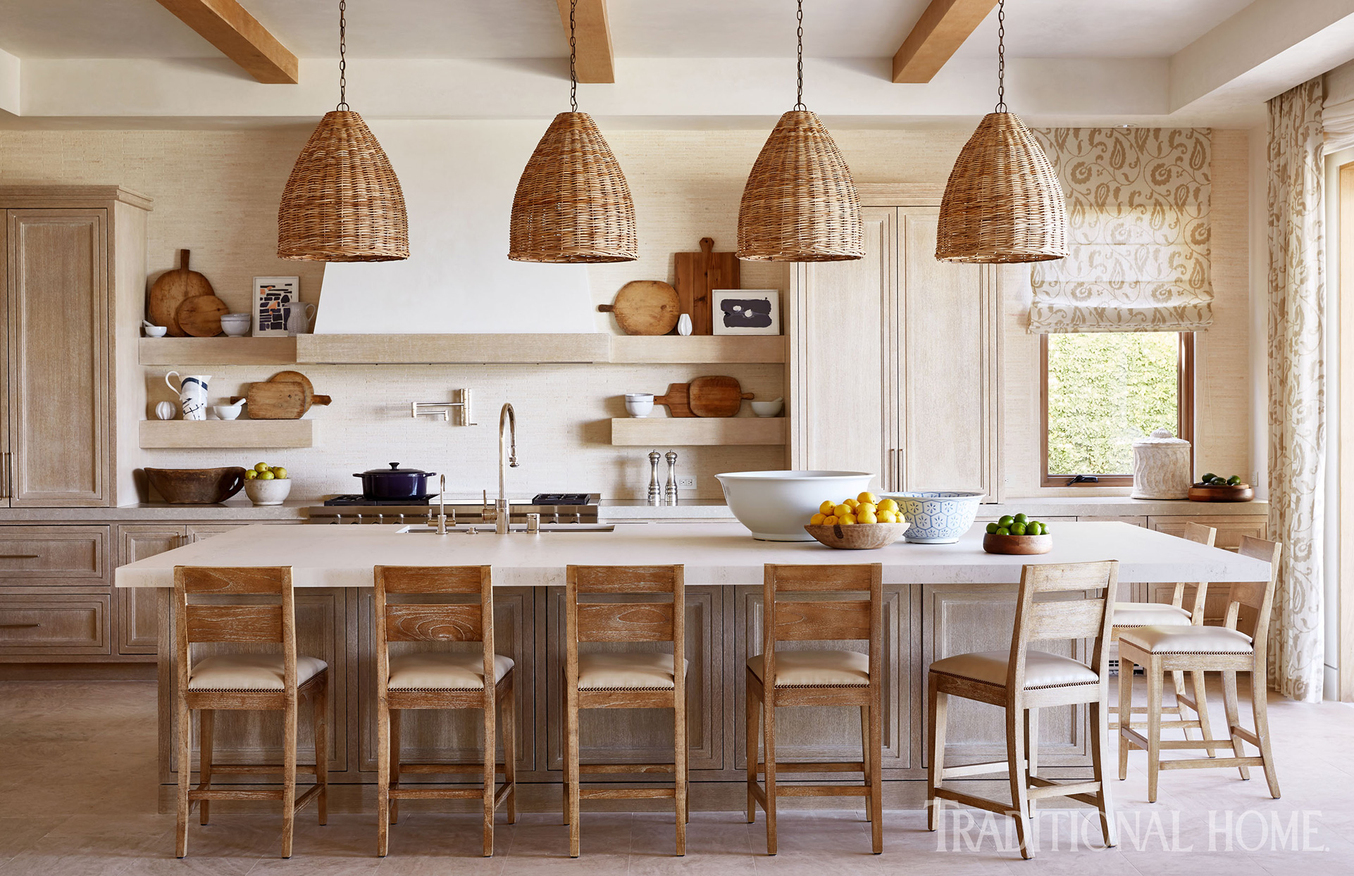 dining area with wicker light fixtures