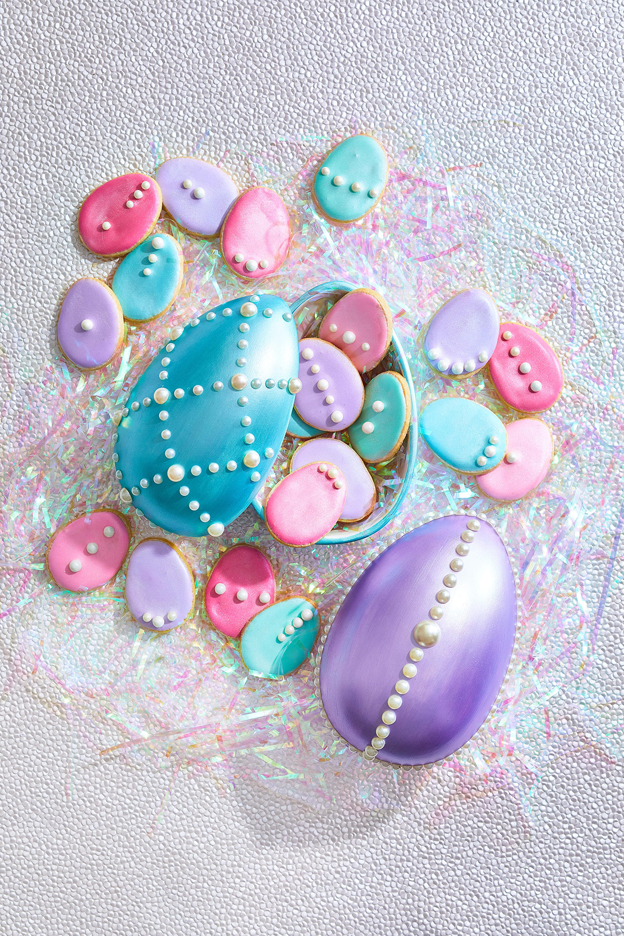 Easter egg containers holding treats