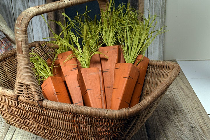 Repurposed Wooden Carrots