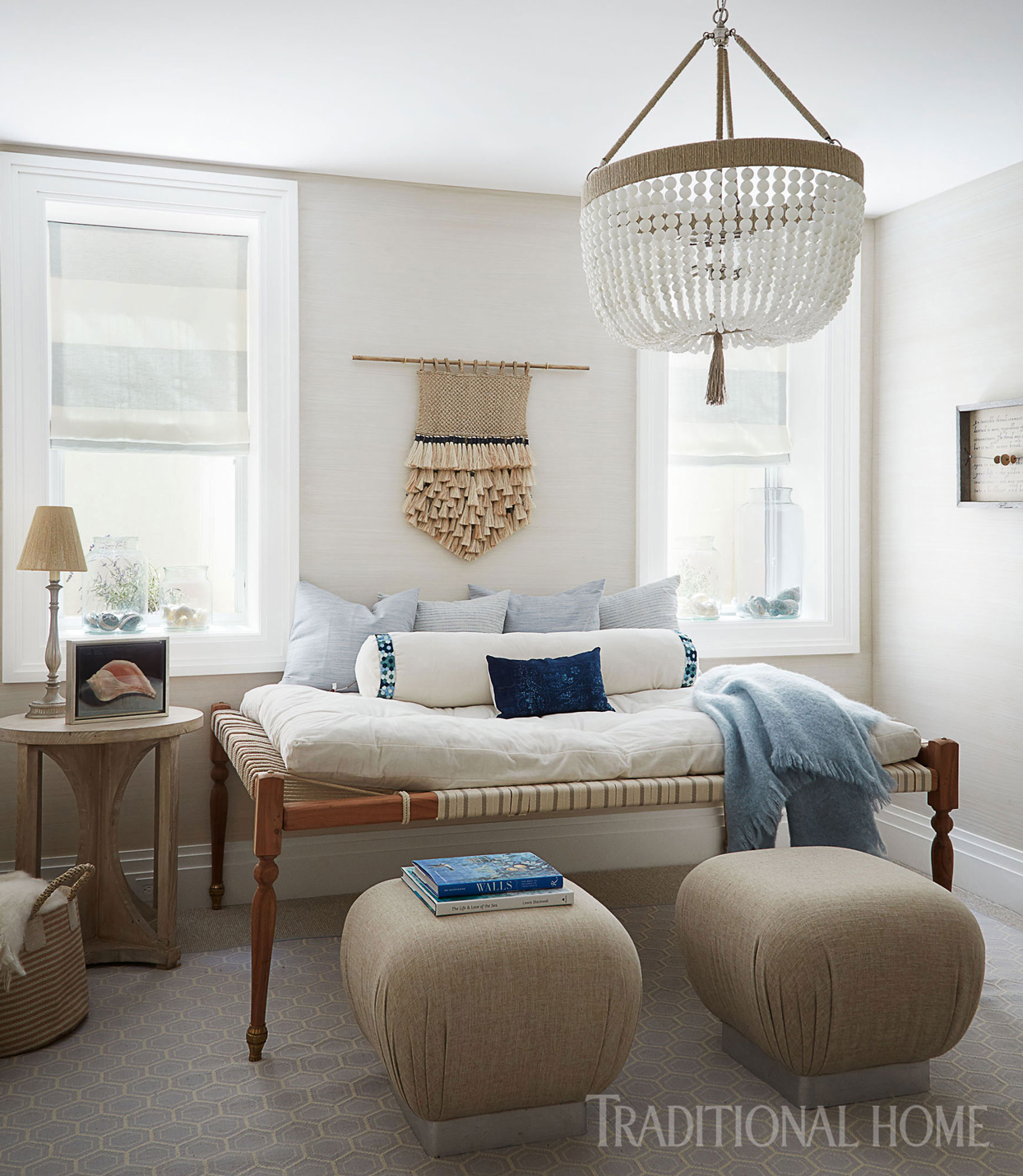 indian bed with upholstered stools
