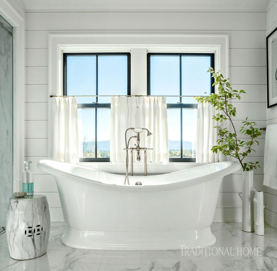 master bath with freestanding tub