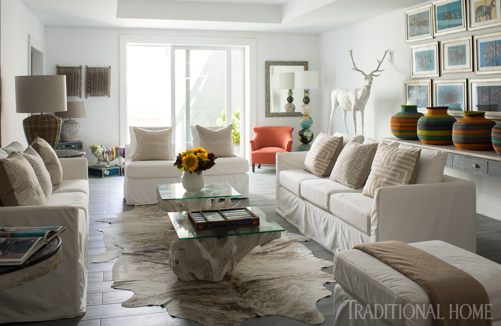 playroom with white walls and neutral furniture