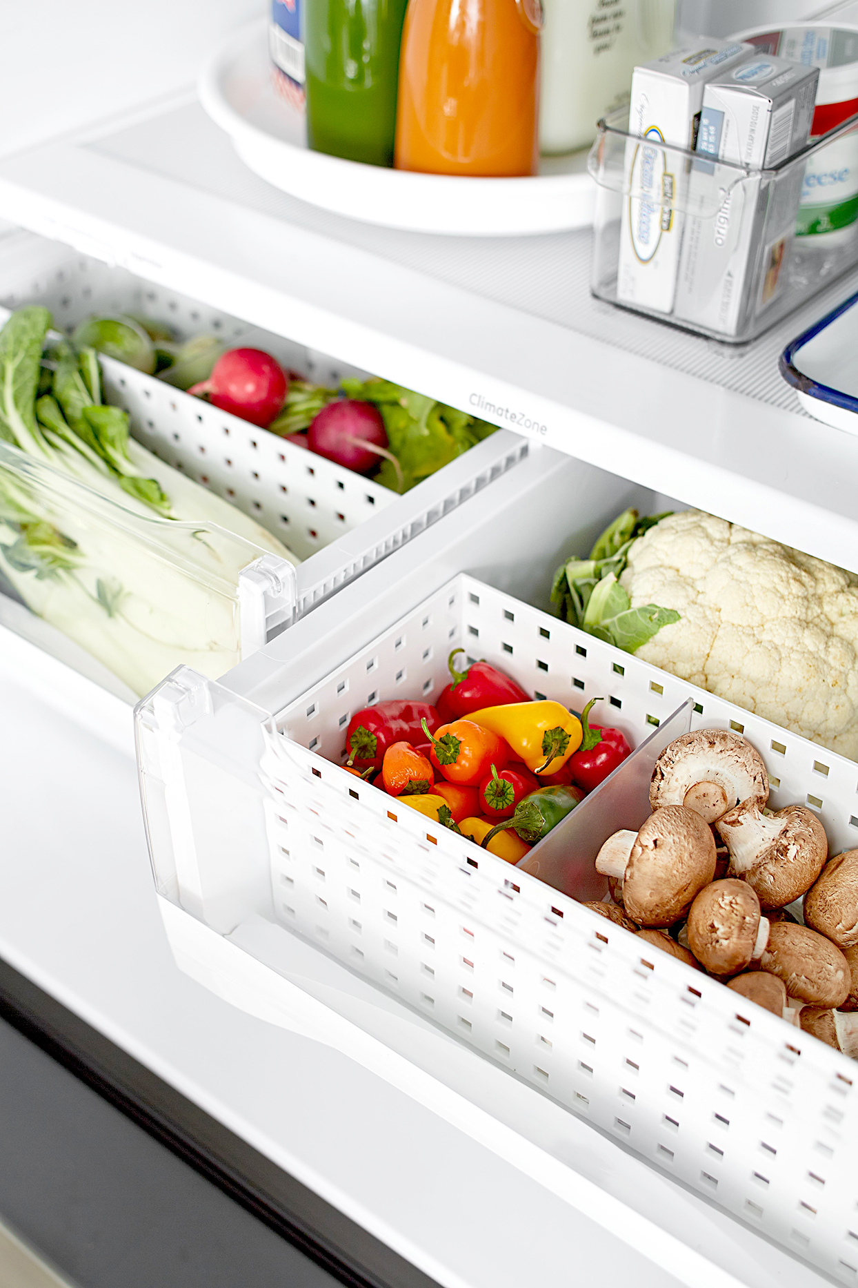 Refrigerator with variety of vegetables