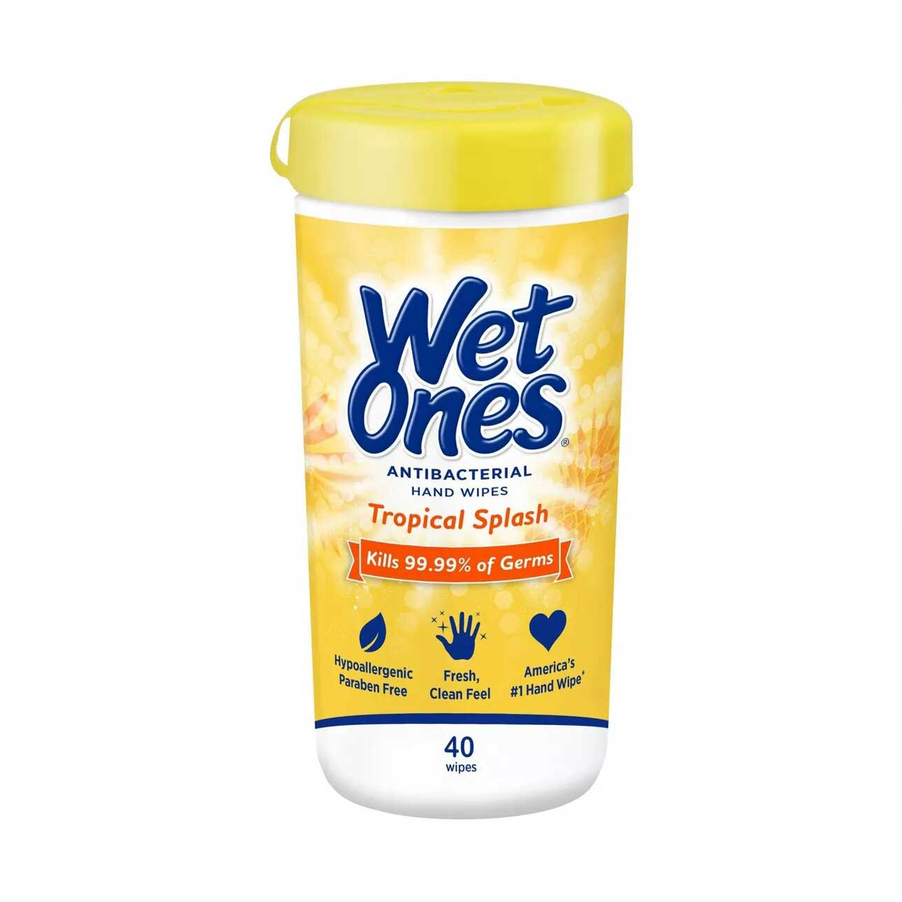 Wet Ones Antibacterial Hand Wipes Canister Tropical Splash