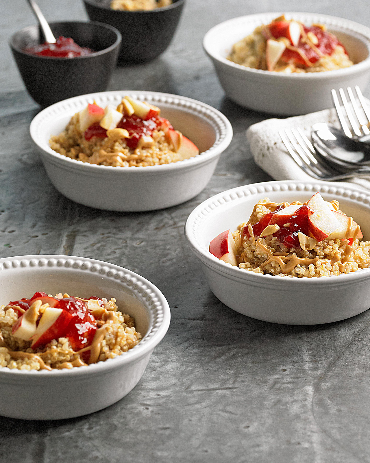 Gluten-Free Peanut Butter and Fruit Quinoa