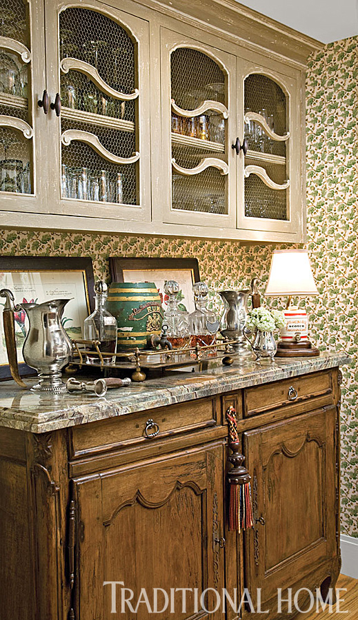 antique french buffet bar
