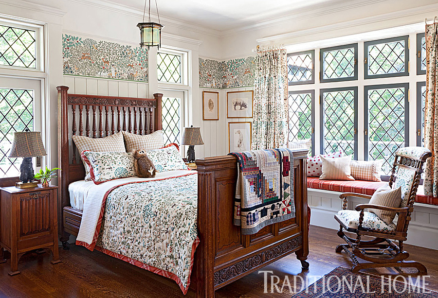 historic bedroom with 19th-century-arts-and-crafts theme