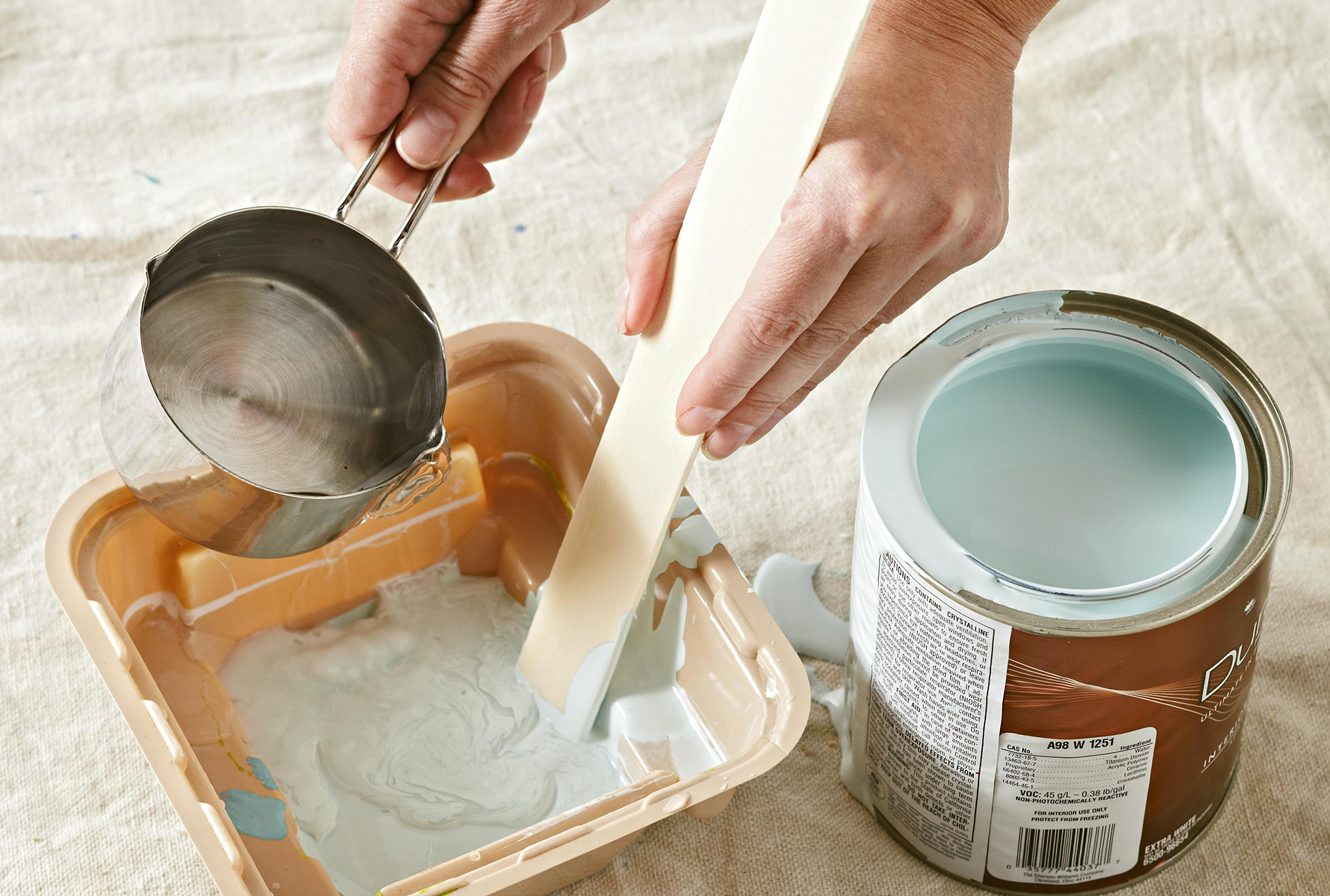 creating a paint wash