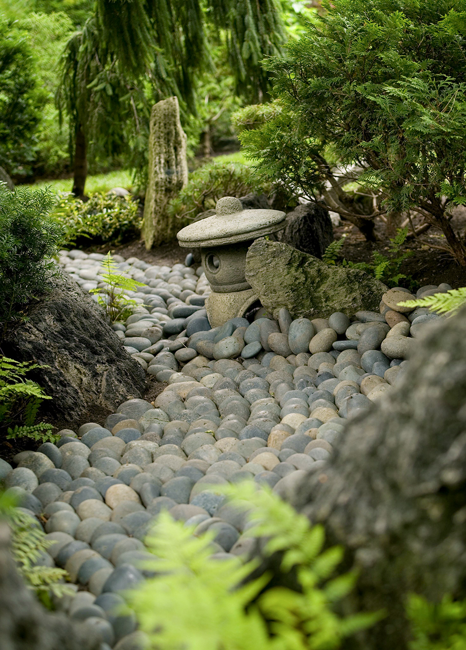 stone stream bed japanese garden