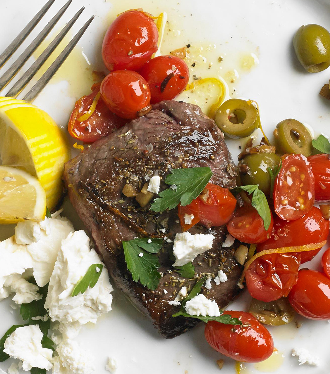Greek Flat Iron Steaks