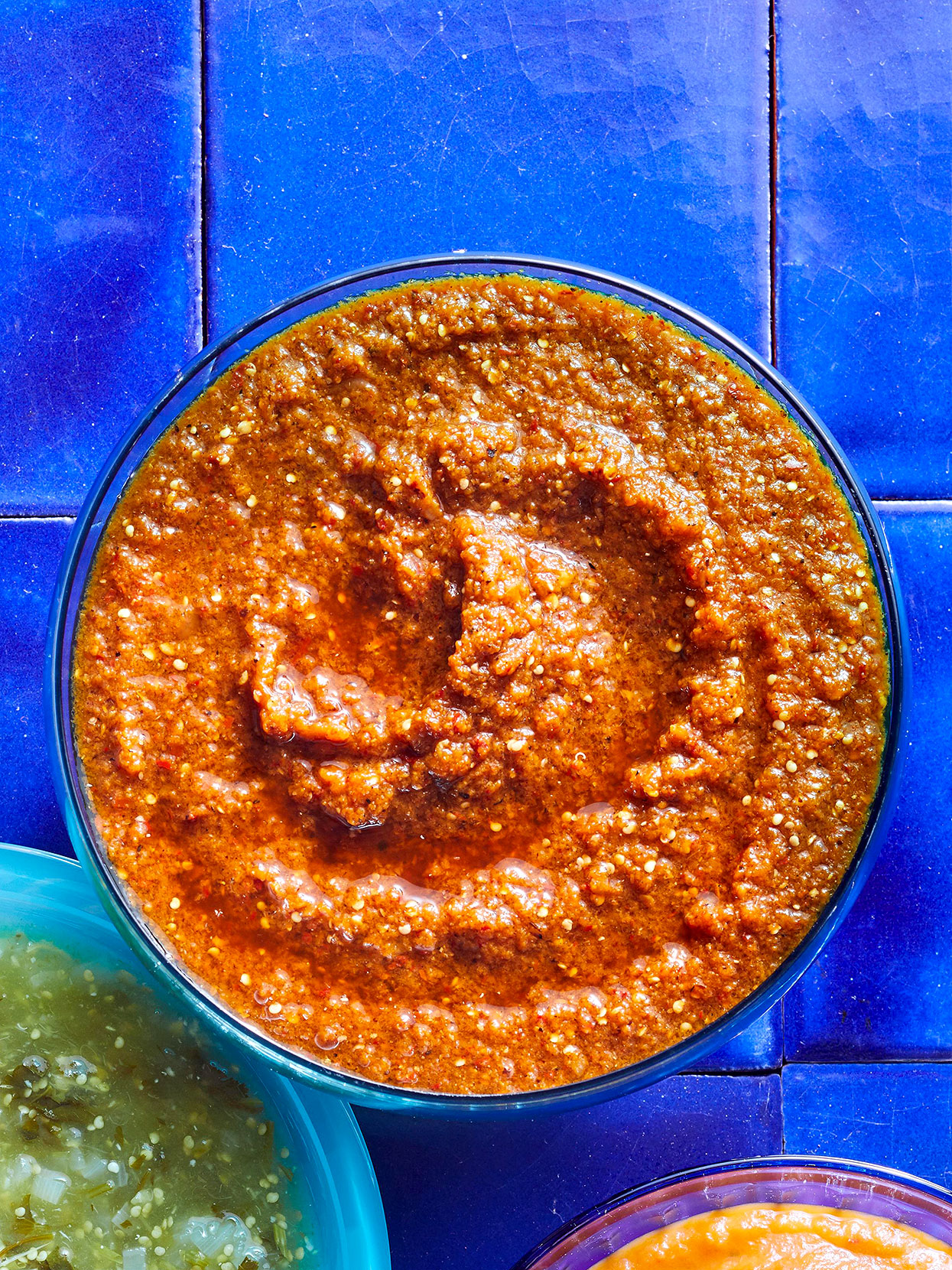 Salsa with Dried Chiles and Tomatillos