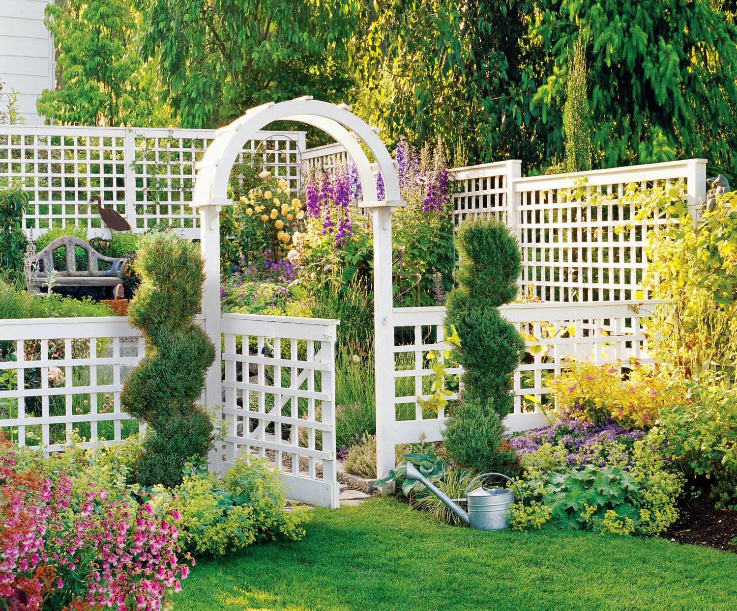Backyard Trellis Rooms
