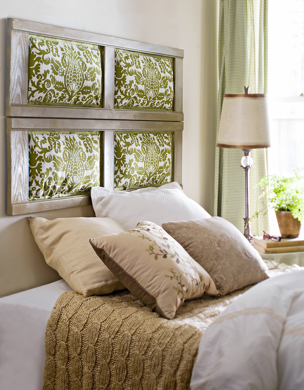upholstered headboard damask pattern