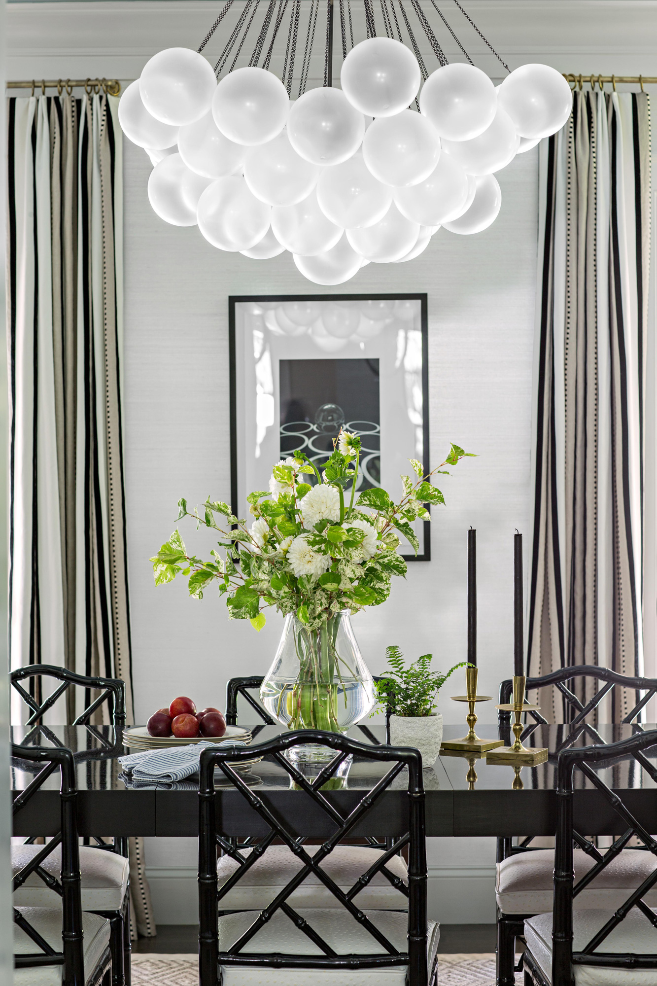 formal dining room bubble chandelier