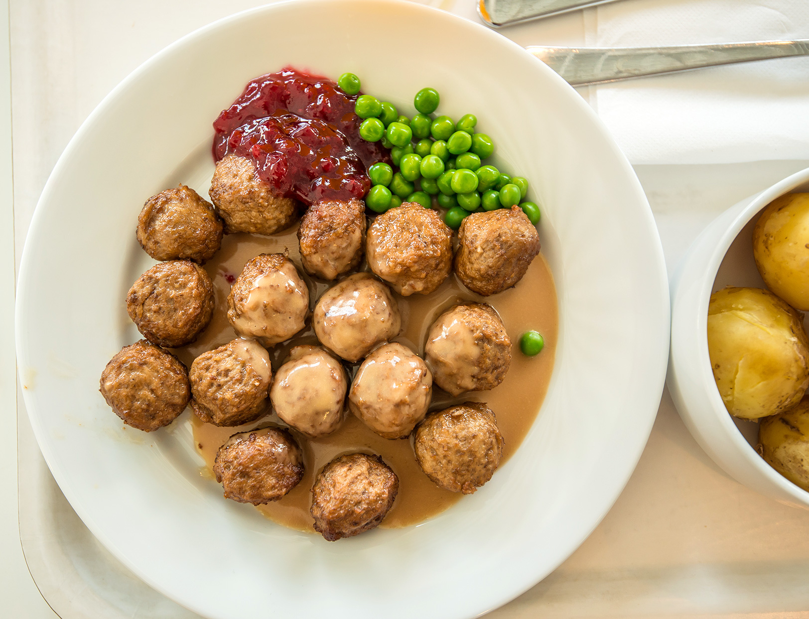 swedish meatballs on plate
