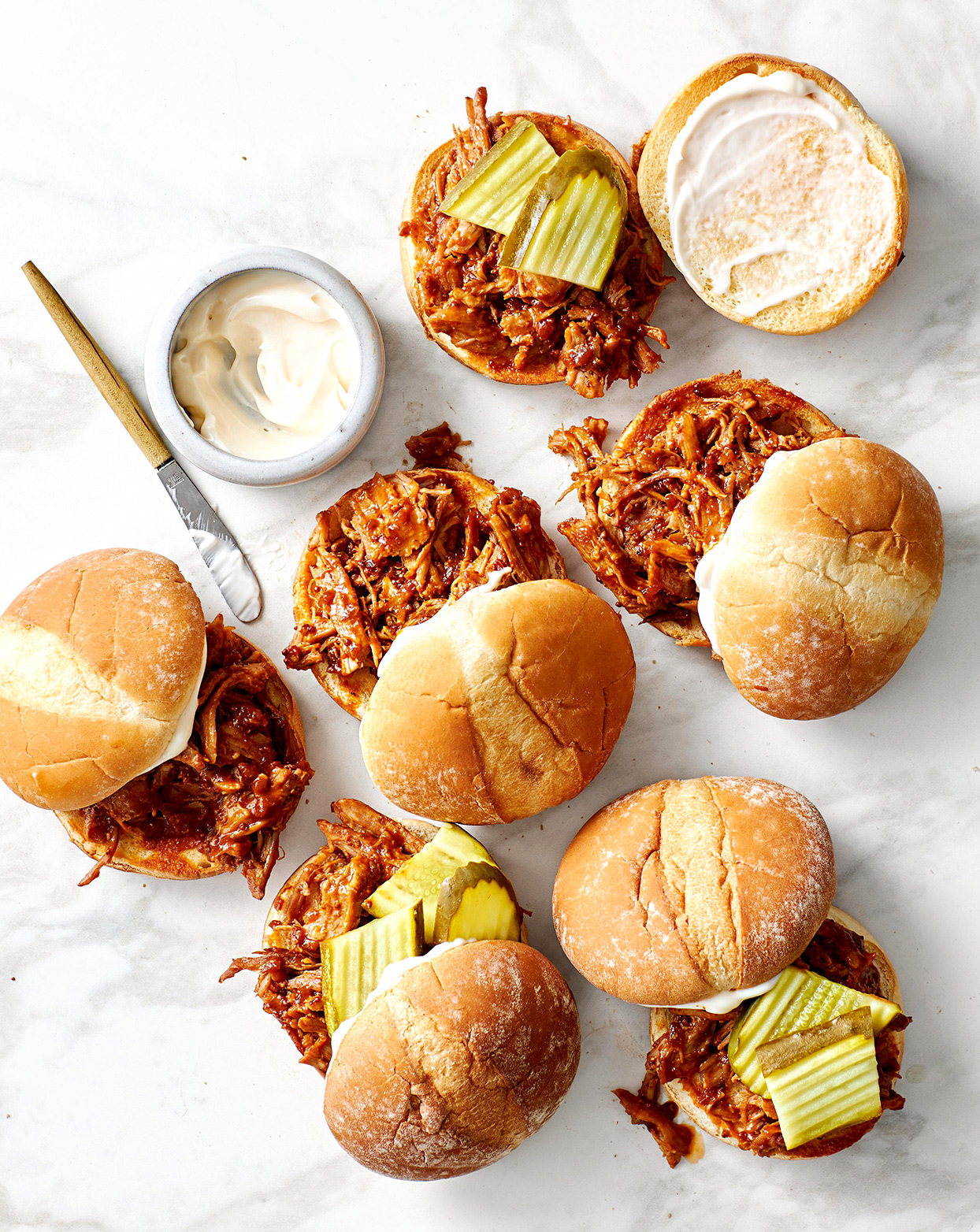 Cuban-Style Barbecue Pulled Pork sandwiches