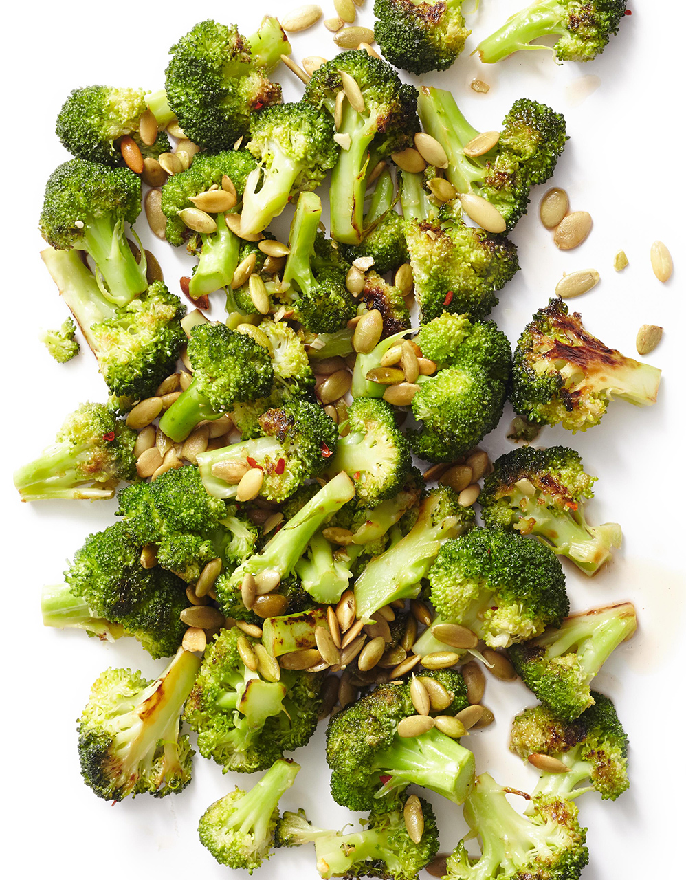 Broccoli with Maple and Pepitas