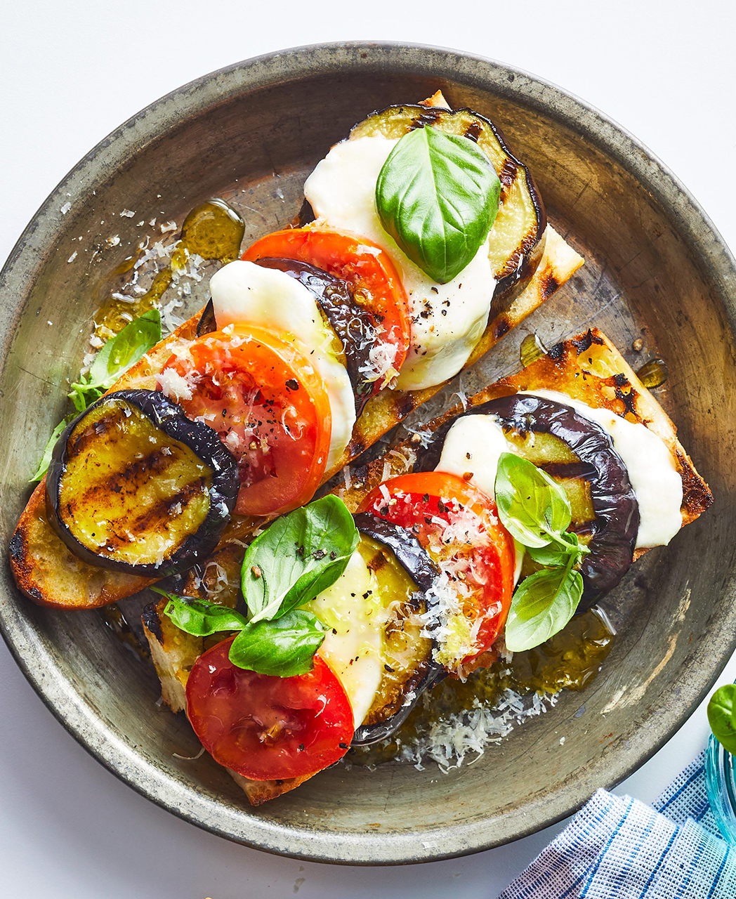 Grilled Eggplant Tartines